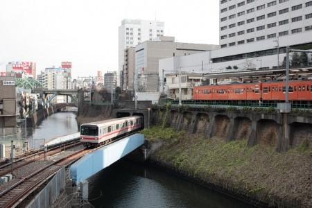 丸の内線の鉄橋(神田川)