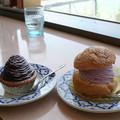 Photos: 紅芋モンブランと紅芋シュークリーム