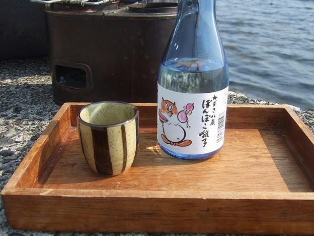 酒は「ぽんぽこ囃子」 純米です