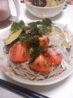 Photos: 妻のぶっかけ蕎麦(6月25日)