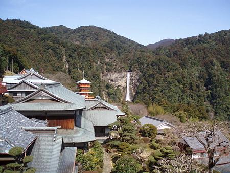 那智山青岸渡寺・三重塔と那智の大滝1