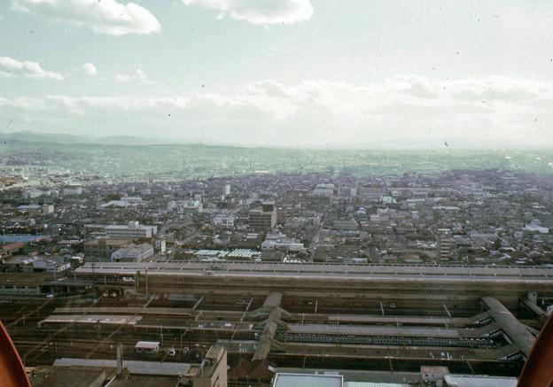 京都タワーからの眺望(40年前)-1