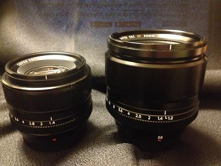 XF35mmとXF56mm