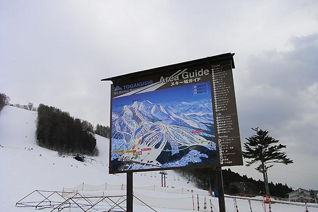 スキー場案内看板