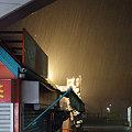 Photos: 豪雨の高坂SA