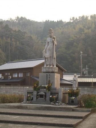 余部鉄橋での事故による犠牲者のための慰霊観音菩薩